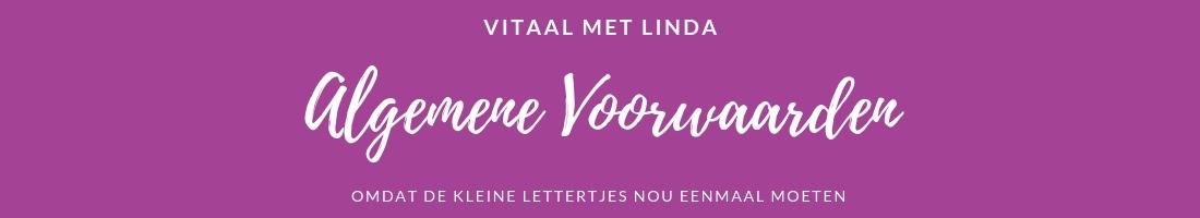Algemene voorwaarden Vitaal met Linda | Massage Capelle aan den IJssel